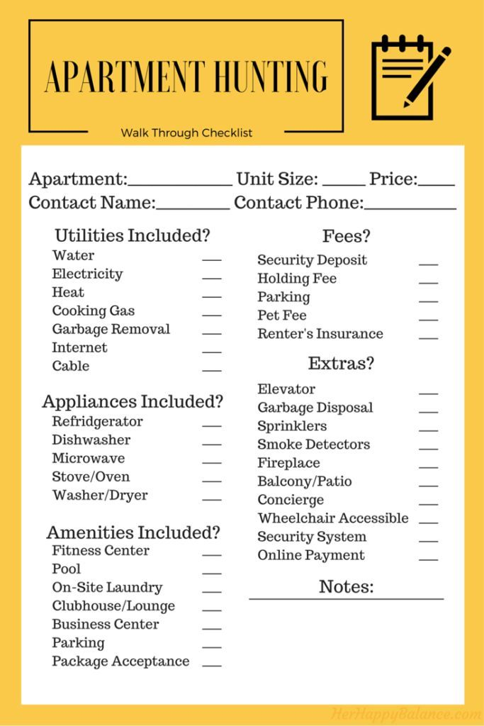 A Guide To Making The Apartment Hunting Process Easier Including Questions Ask And Helpful Checklist Ensure You Re Choosing Right Spot For