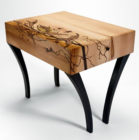 Stool by carl johnson have you ever tried woodburning as for Ever design furniture