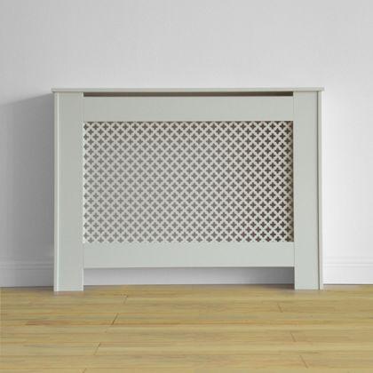 Oxford Radiator Cabinet Smooth White W 110 X H 81 5 X D 19cm