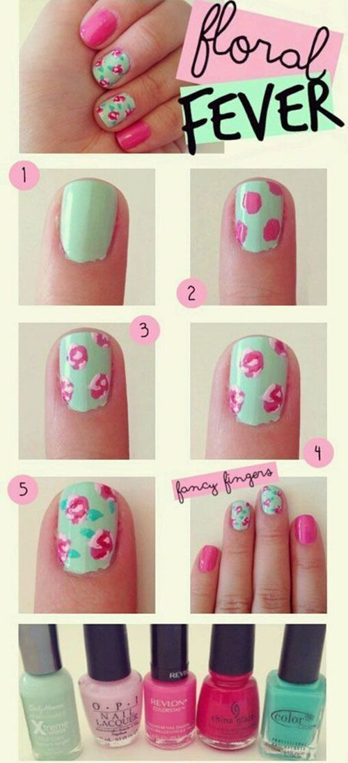cool Easy Step By Step Spring Nail Art Tutorials For Beginners ...