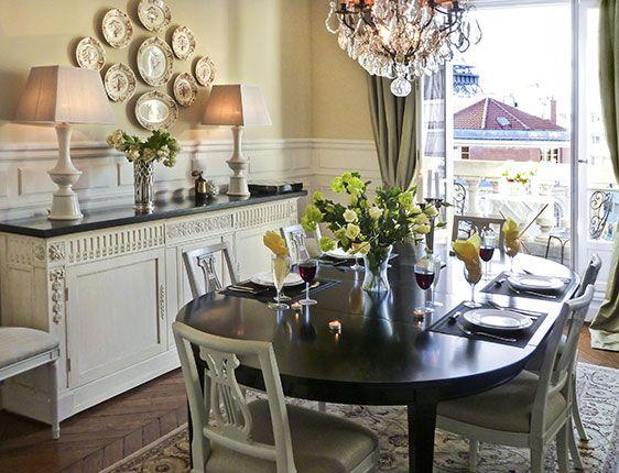 A Diningroom In A Paris Apartment.