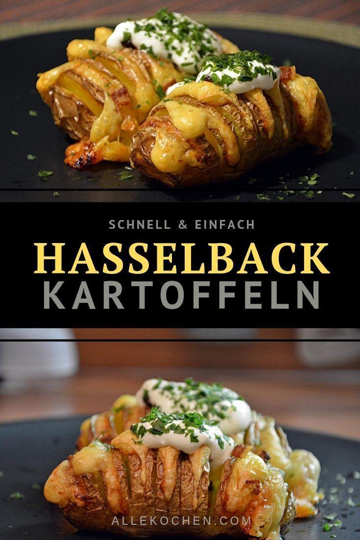 Einfache Hasselback Kartoffeln aus dem Ofen | AlleKochen.com