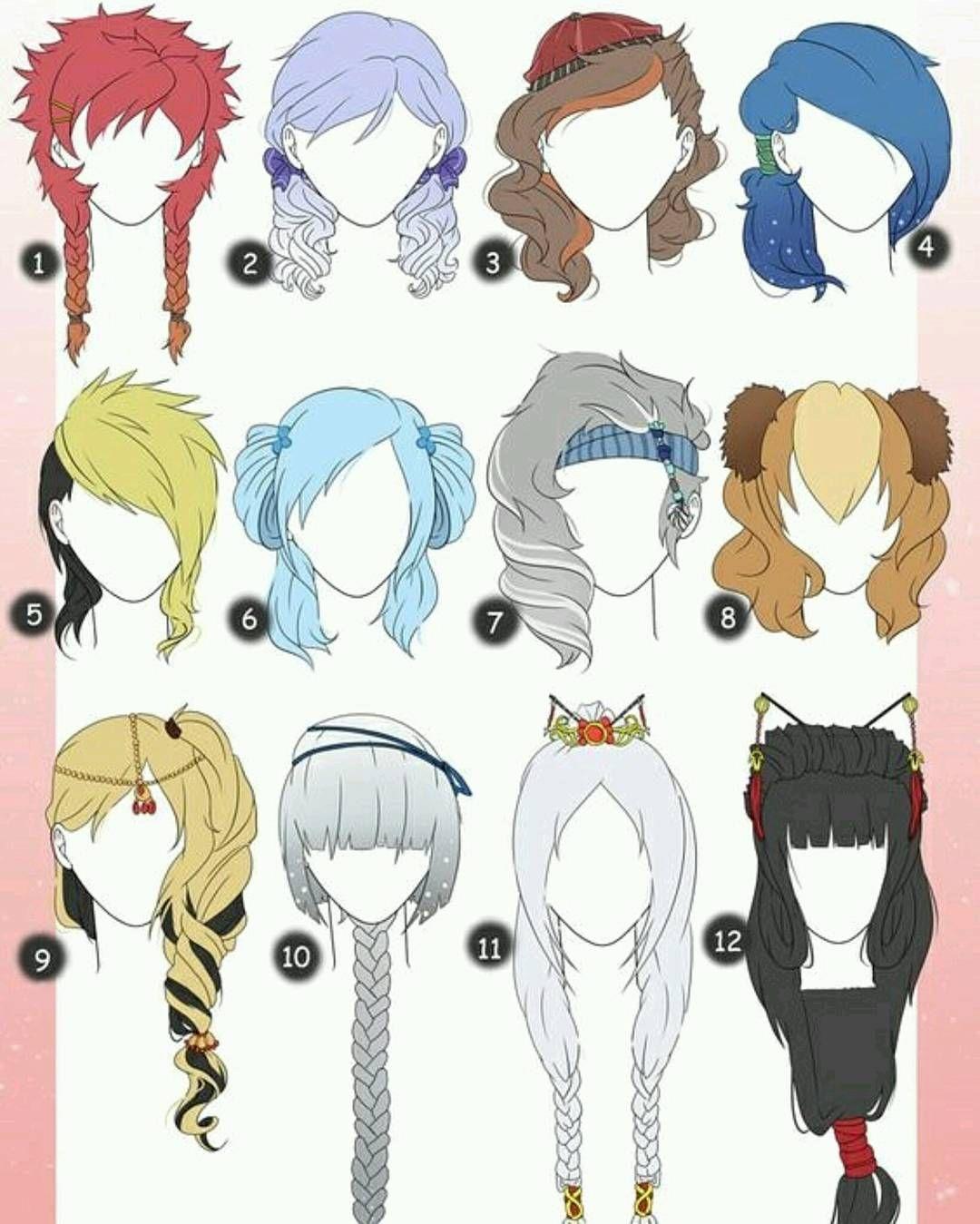نماذج شعر انمي Manga Drawing Anime Drawings Anime Hair