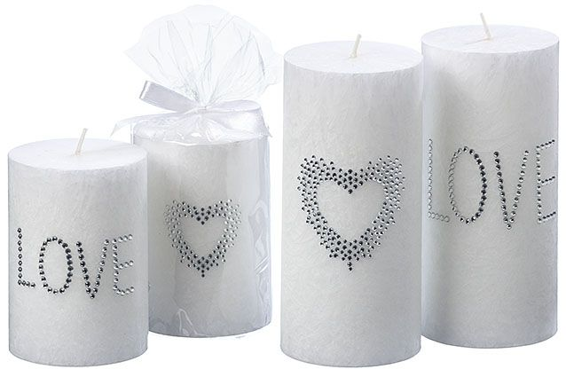 Romantische Kerzen #love #kerzen #silber #steinchen #romantic