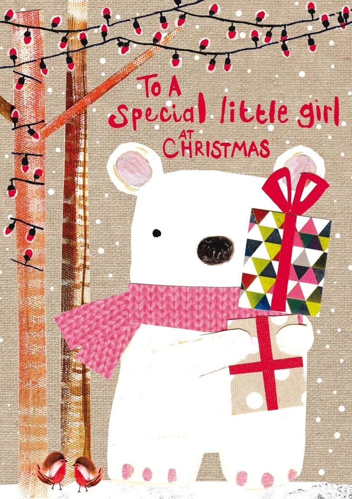 a special little girl christmas greeting card  christmas