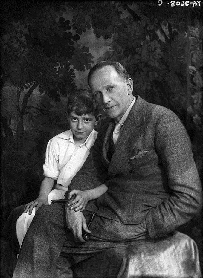 Winnie The Pooh Author A A Milne With His Son Christopher Robin