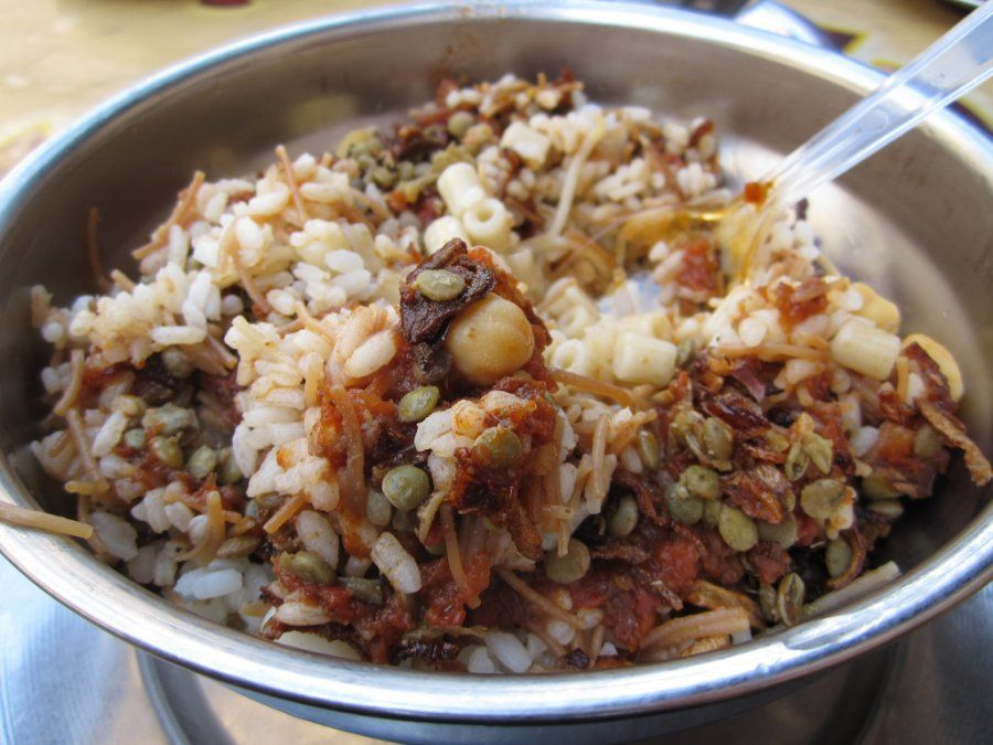 Image result for koshari plate