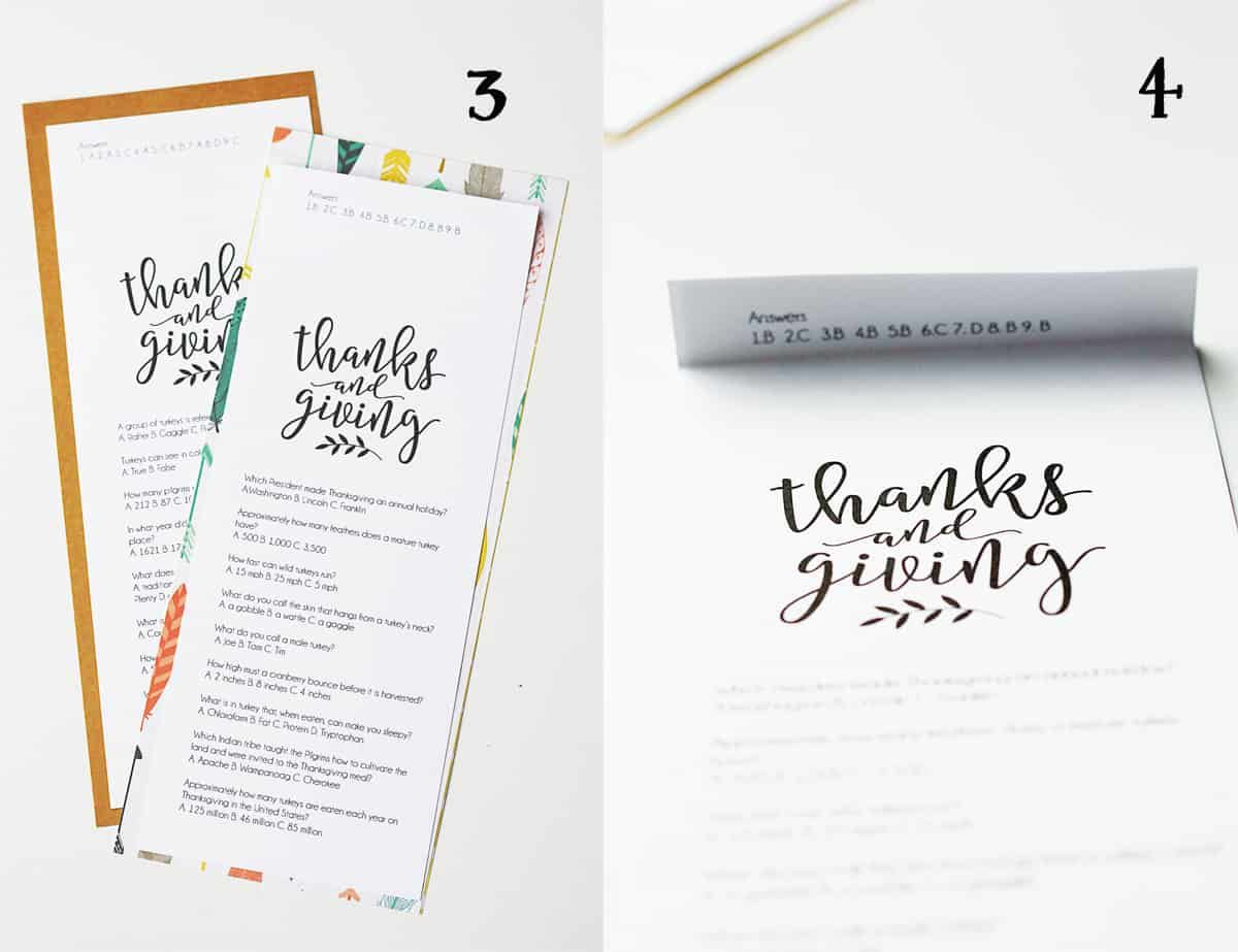 Printable Thanksgiving Trivia Game With Images