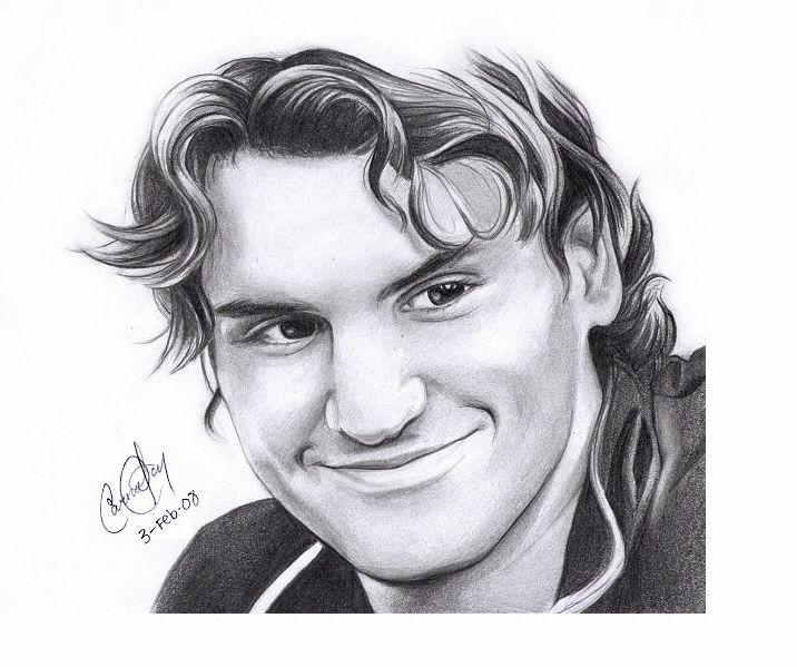 Roger Federer Portrait Roger Federer Celebrity Drawings Portrait