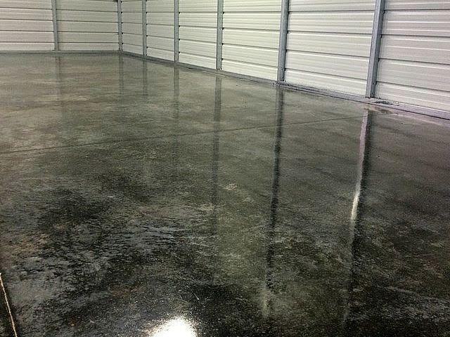Acid Stained Garage Floor 5