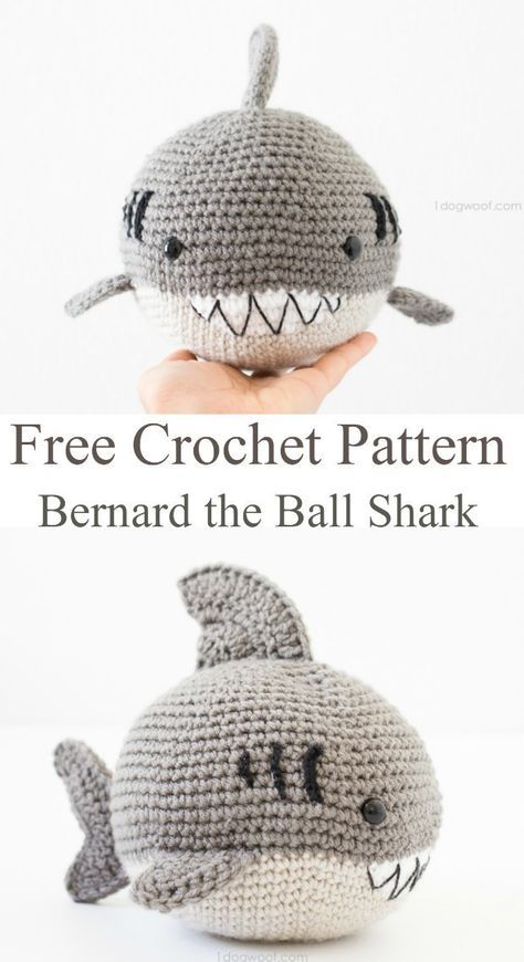 Fun and easy free crochet pattern for this cute amigurumi shark ...