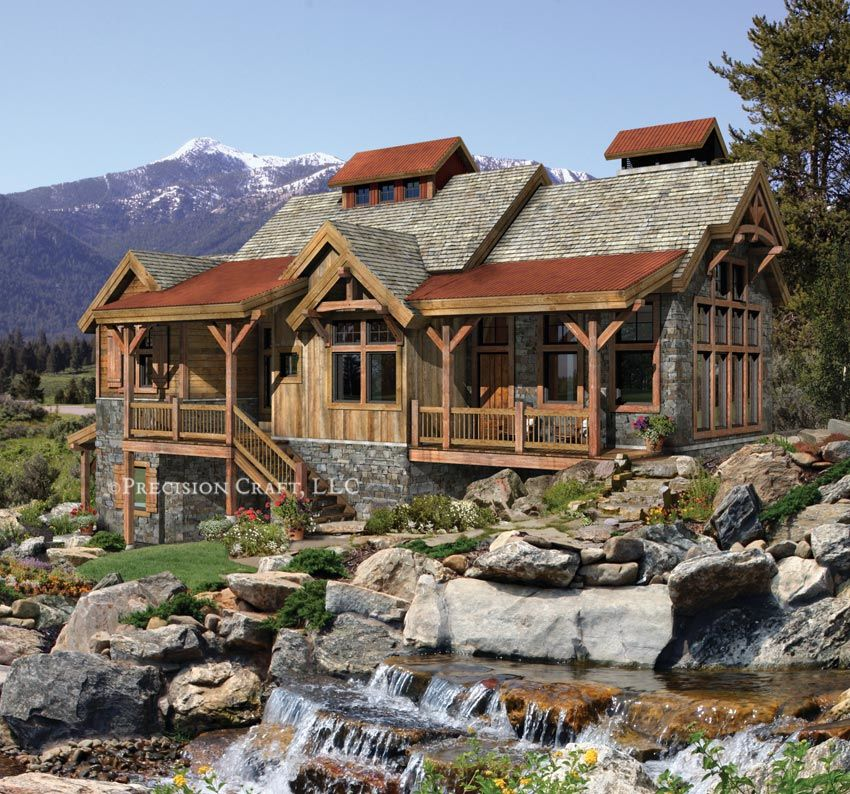 Pacific northwest home plans creekside timber frame for Pacific northwest homes