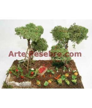 Arte Pesebre - Árboles y huerto