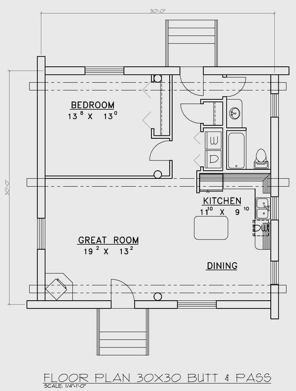 30 X 30 Floor Plans | Plans Package: 30×30