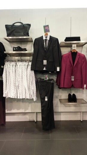 // visual merchandising // topman // oxford circus // suits