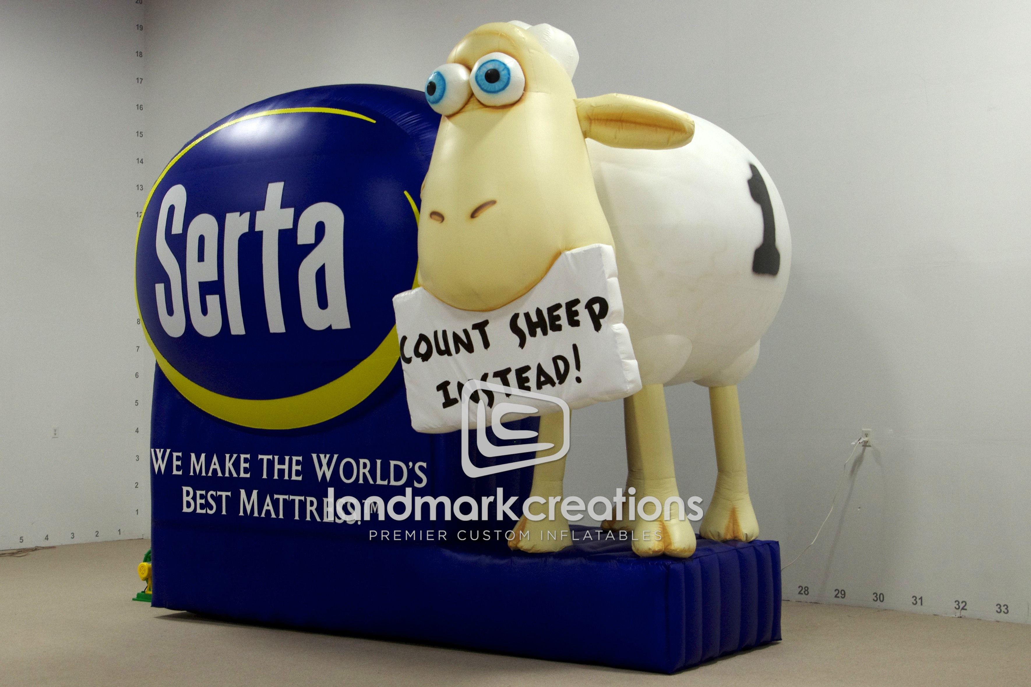 Serta Mattress Mattress Counting Sheep Mascot Billboard Inflatable