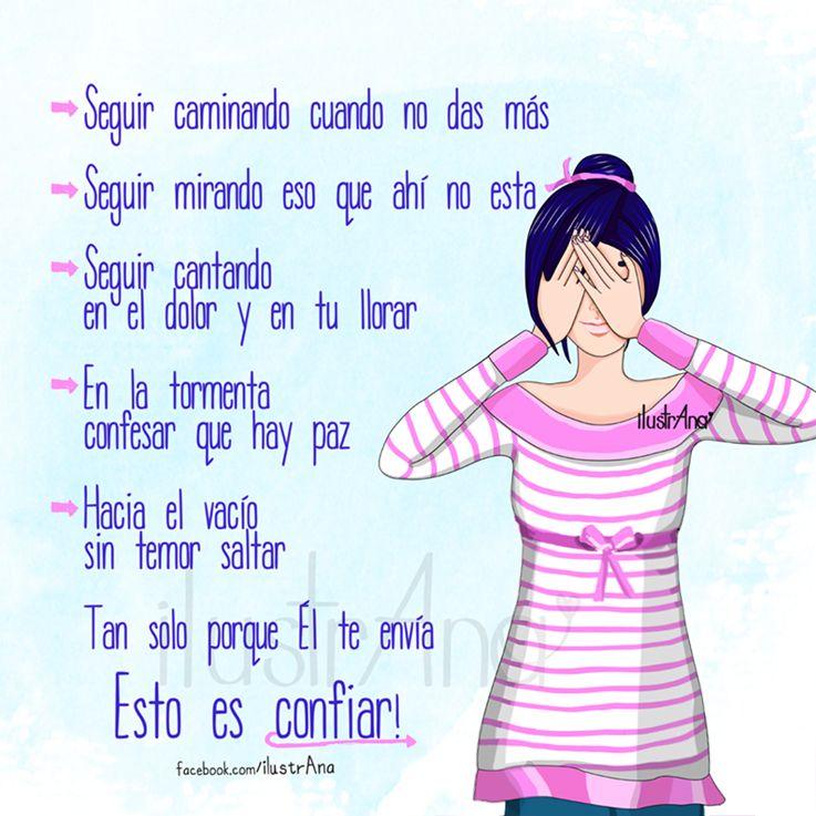 #Dios #confiar #temor #fe #fortaleza #debilidad #tristeza #alegría #ilustrana #mujer #draw #illustration #girl #paz #canta #God #trust #faith
