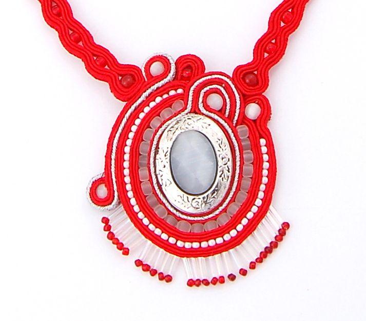 naszyjnik wisior sutasz soutache pendant necklace 21