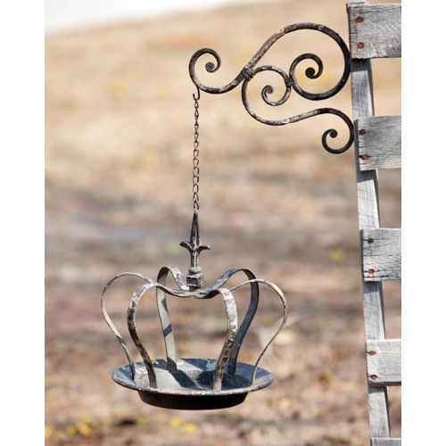 Hanging Crown Bird Feeder $67  Add Garden Ornament