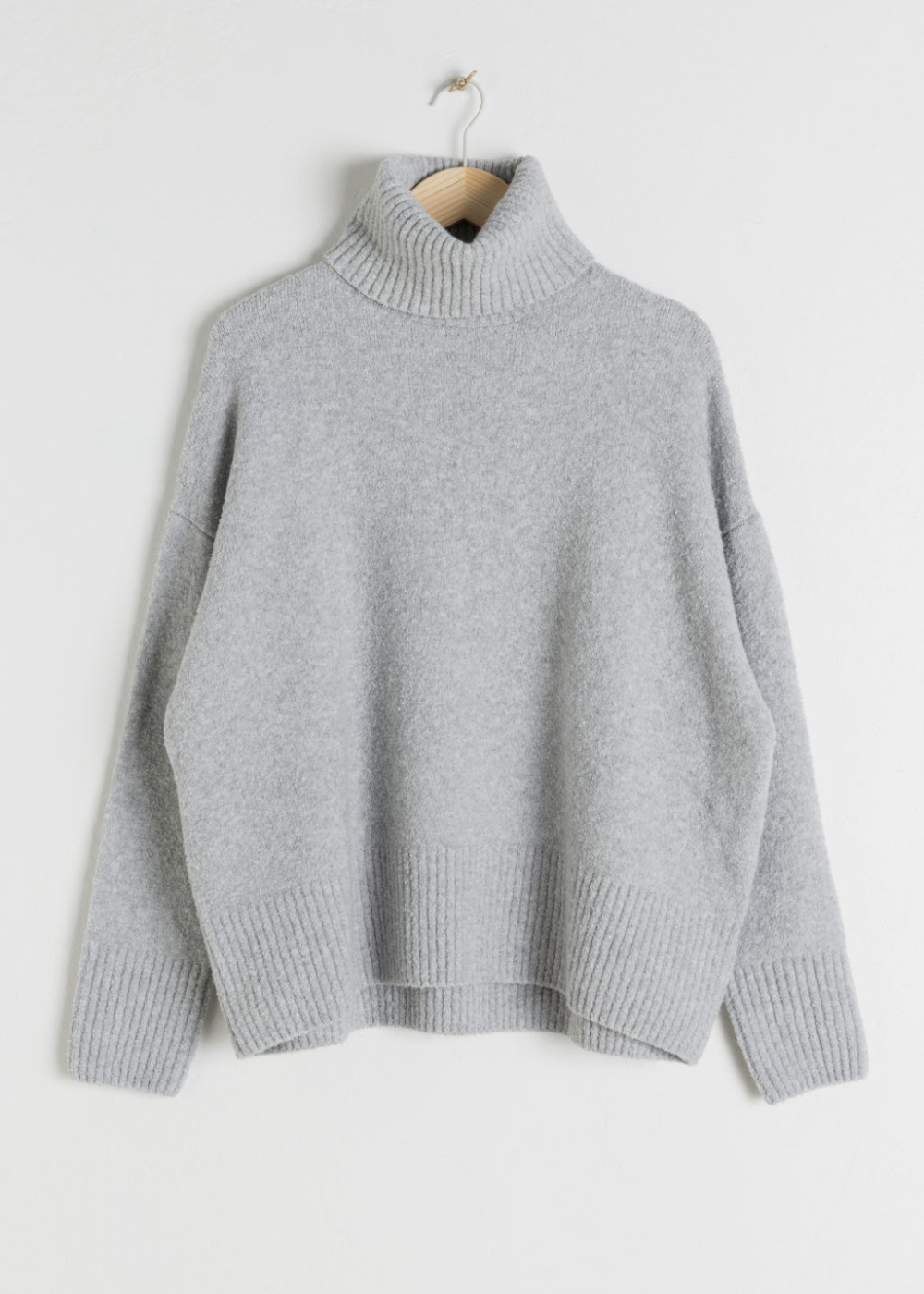 High Neck Sweater Grey Turtlenecks & Other Stories