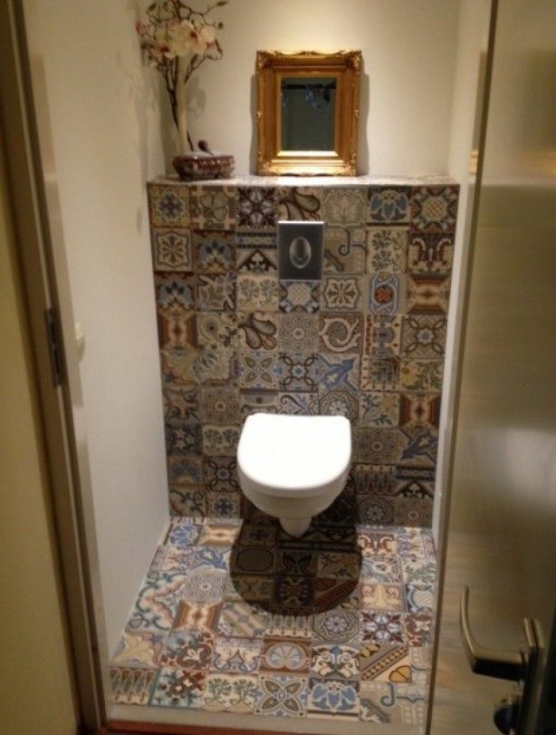 Mozaiek toilet google search bathrooms pinterest toilet - Tegels wc design ...