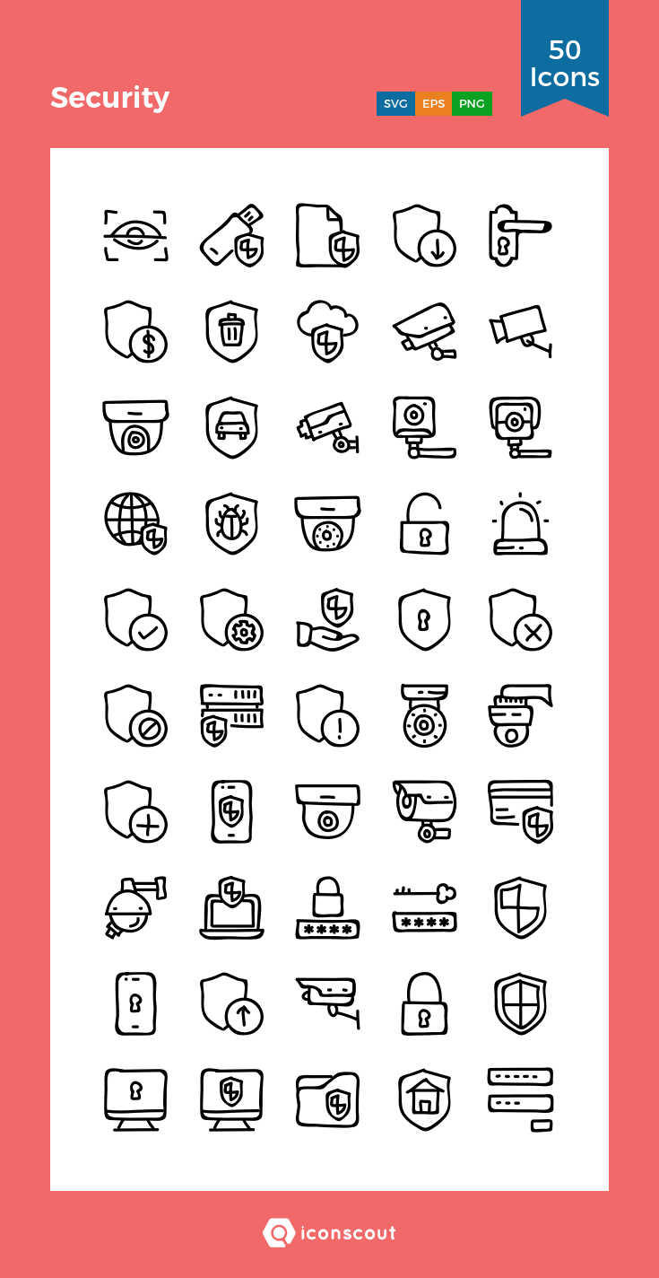 Download Security Icon pack Available in SVG, PNG, EPS