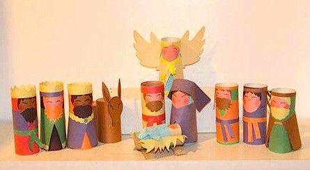 Fotos Esta Navidad Belenes Originales.Belen Con Rollos De Papel Higienico Navidad Manualidades