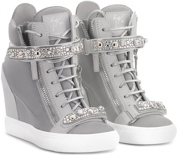 faf0d208a4b9 Giuseppe Zanotti Giuseppe for Jennifer Lopez  Tiana  Hidden Wedge Sneaker