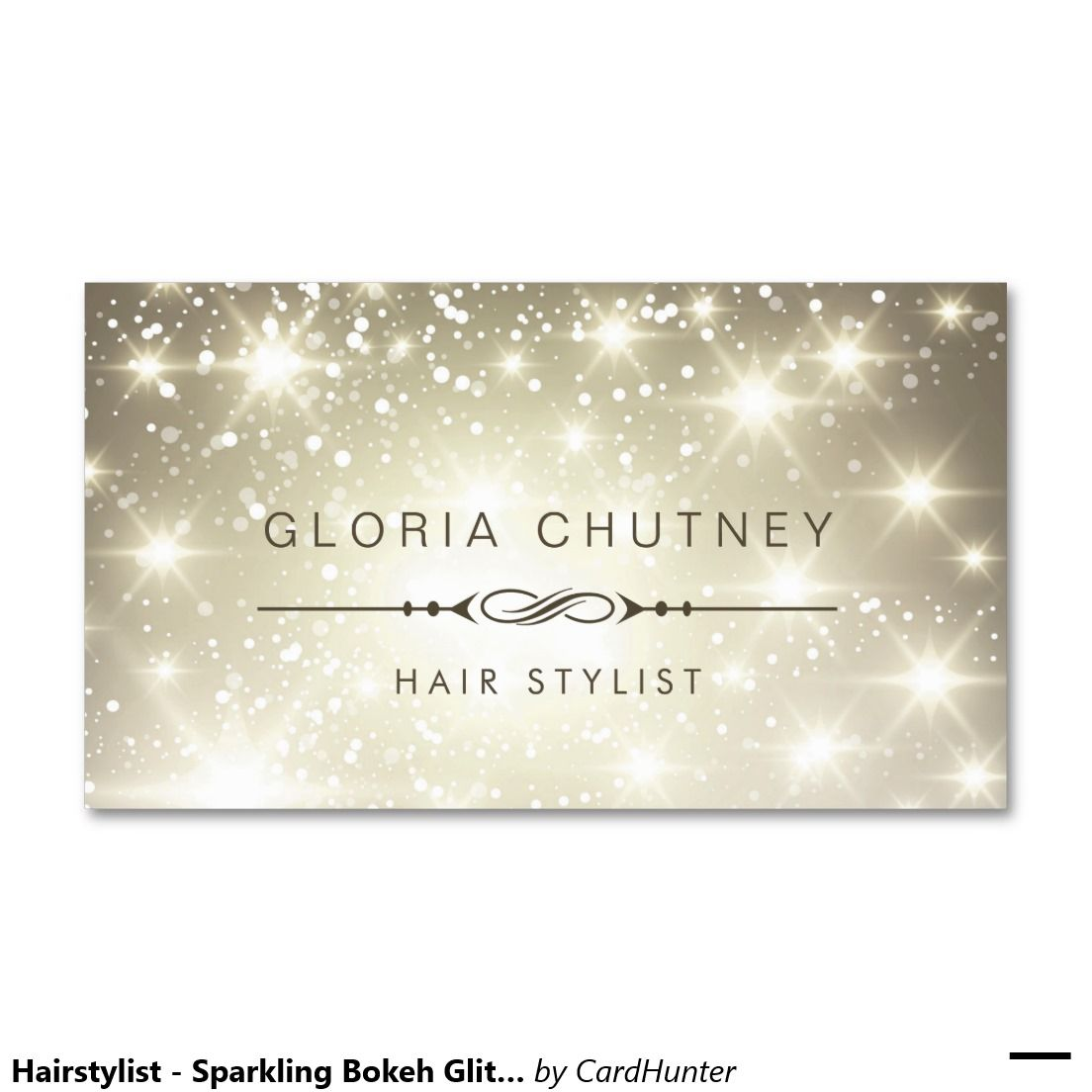 Hairstylist - Sparkling Bokeh Glitter Double-Sided Standard Business Cards (Pack Of 100)