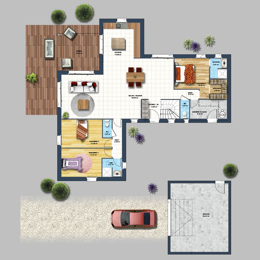maison design long re herbignac plans pinterest maison maison design et plan maison. Black Bedroom Furniture Sets. Home Design Ideas