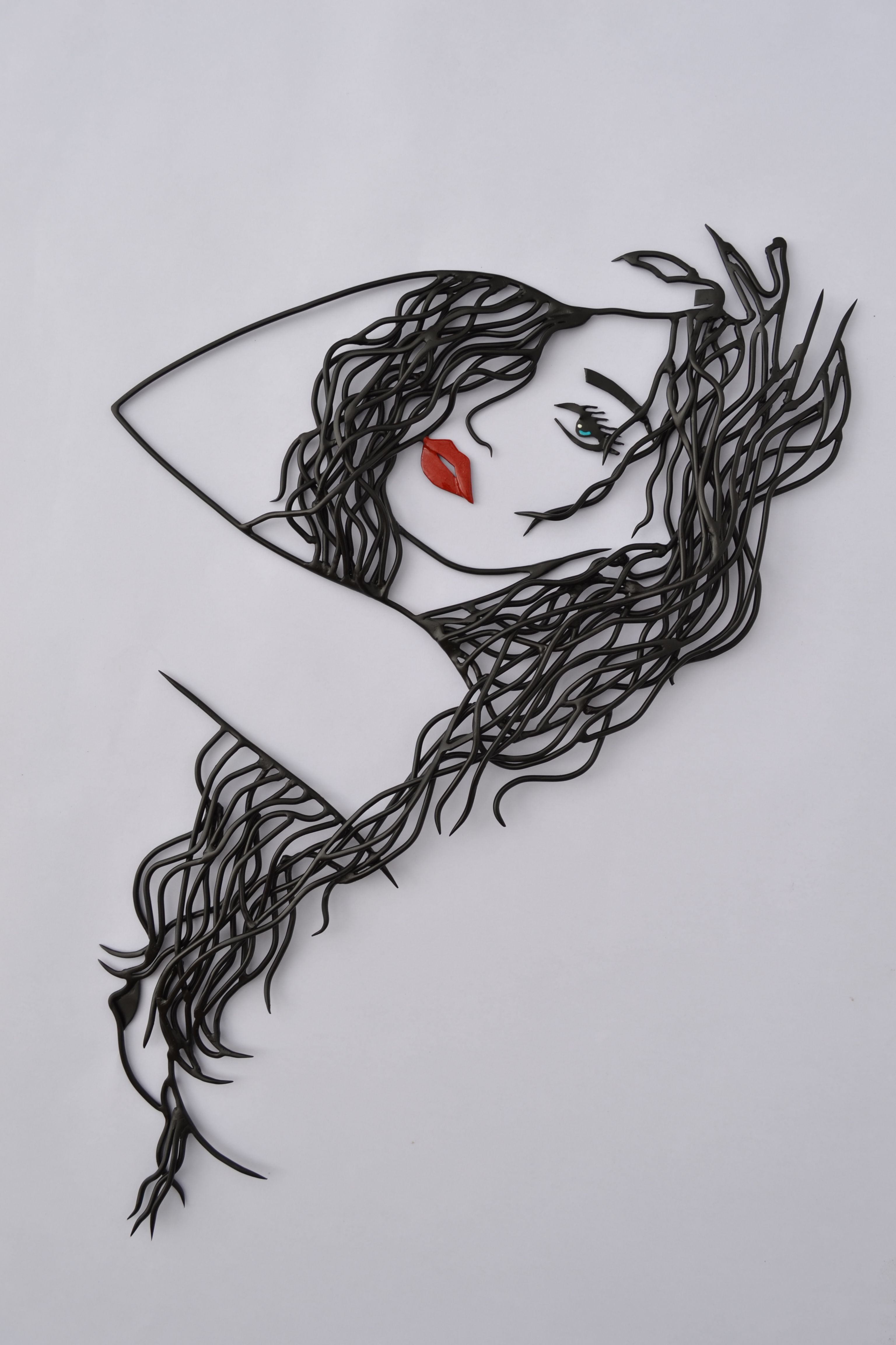 wire hair | 3D paintings | Pinterest | Wire art, 3d pen and Quilling