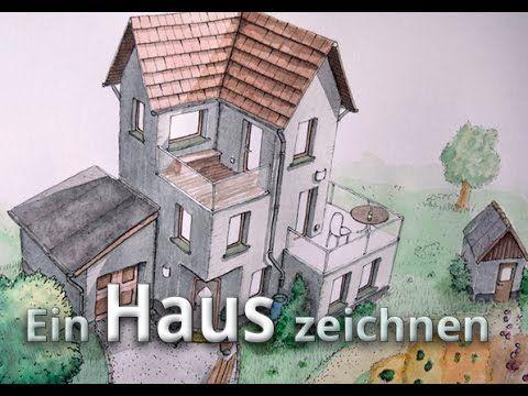Ein Haus Zeichnen Aquarell Colorierung Farbe Haus 02 Hauser Zeichnen Bunte Zeichnungen Zeichnen