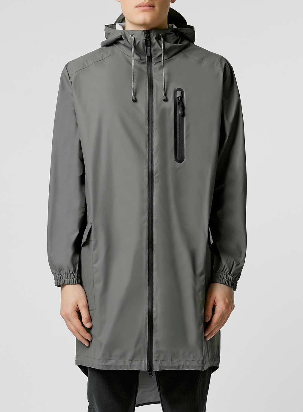 Rains Grey Parka