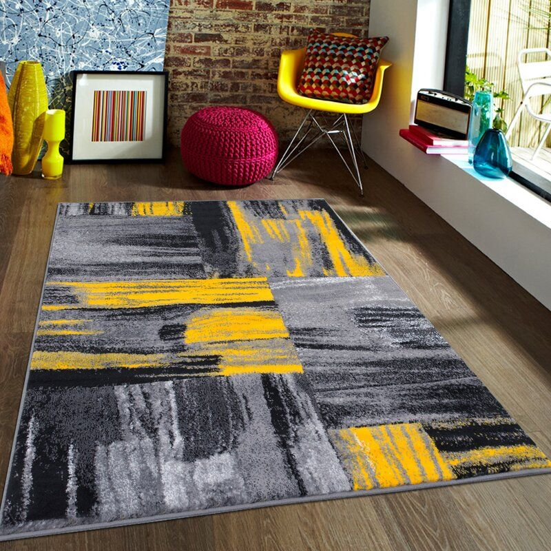 Keeler Yellow Area Rug Grey And Yellow Living Room Gray Rug Living Room Rugs In Living Room