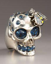 Alexander McQueen Skull & Bee Ring