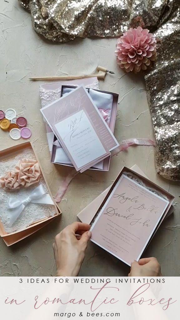Invitaciones de boda en caja #lacewedding #vintagestyle #invitationinbox #weddingb …