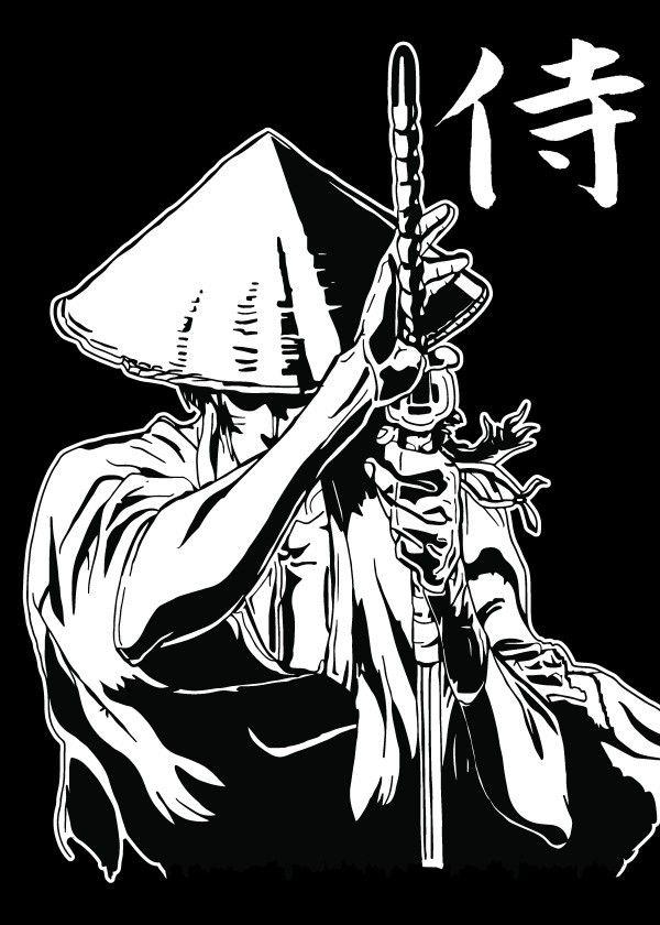 Jubei V2a Fanart Based On The Metal Poster Alexander Nusgen Displate In 2020 Ninja Art Samurai Anime Samurai Art