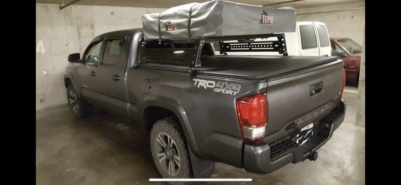 bed rack tacoma world tonneau cover
