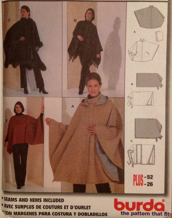 PLUS SIZE PONCHO Cape Sewing Pattern - Ponchos & Capes Sizes 8-26 ...