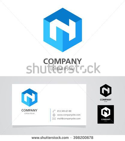 Letter n logo design element with business card illustration letter n logo design element with business card illustration vector logotype template reheart Image collections