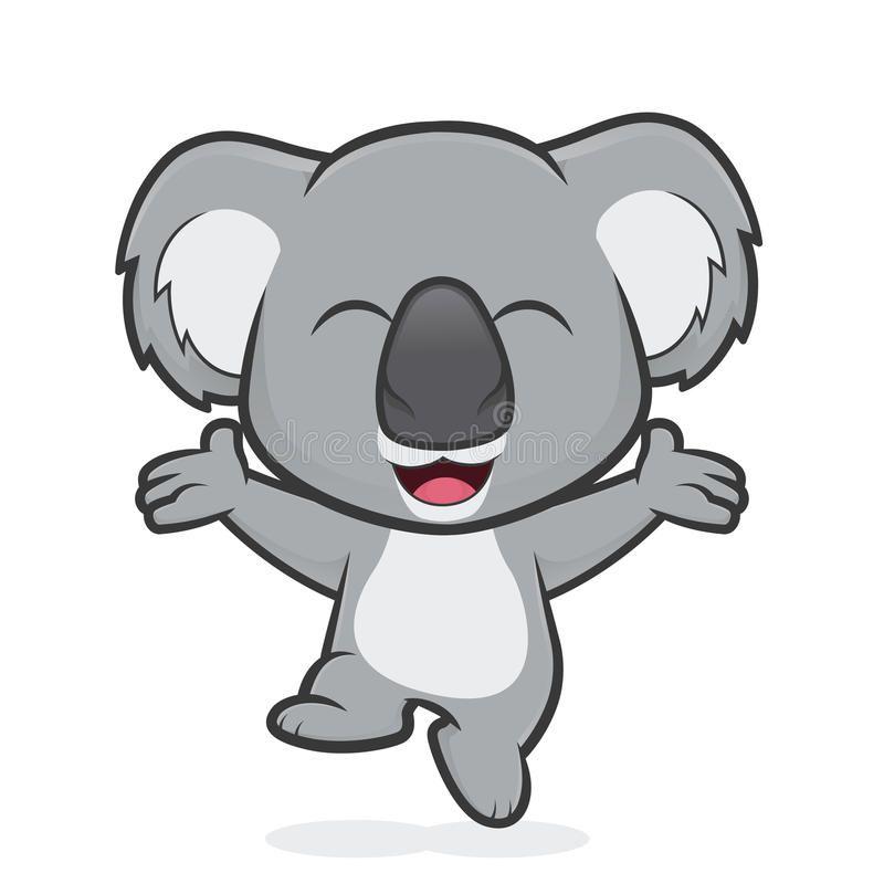 Happy Koala Jumping Clipart Picture Of A Happy Koala Cartoon Character Jumping Royalty Free Illustration Illustration Koala Clip Art
