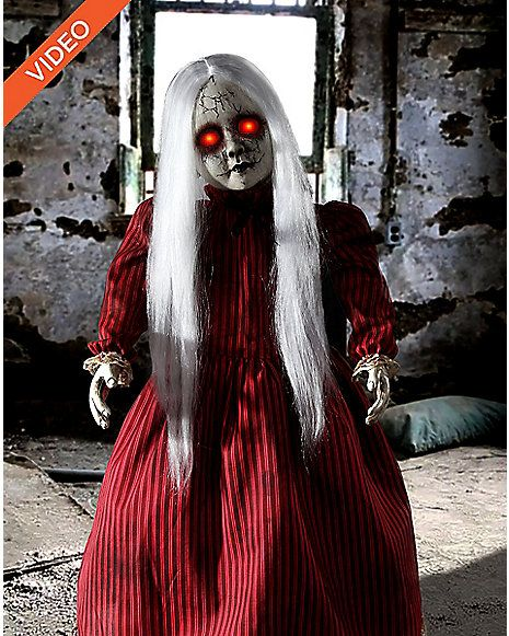 25 ft roaming rosie red antique doll animatronics decorations spirithalloweencom spirit halloweenhalloween stuffhalloween