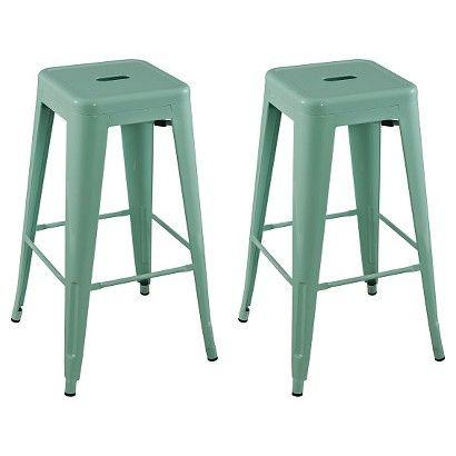 Admirable 29Carlisle Metal Barstool Yellow Set Of 2 Threshold Creativecarmelina Interior Chair Design Creativecarmelinacom