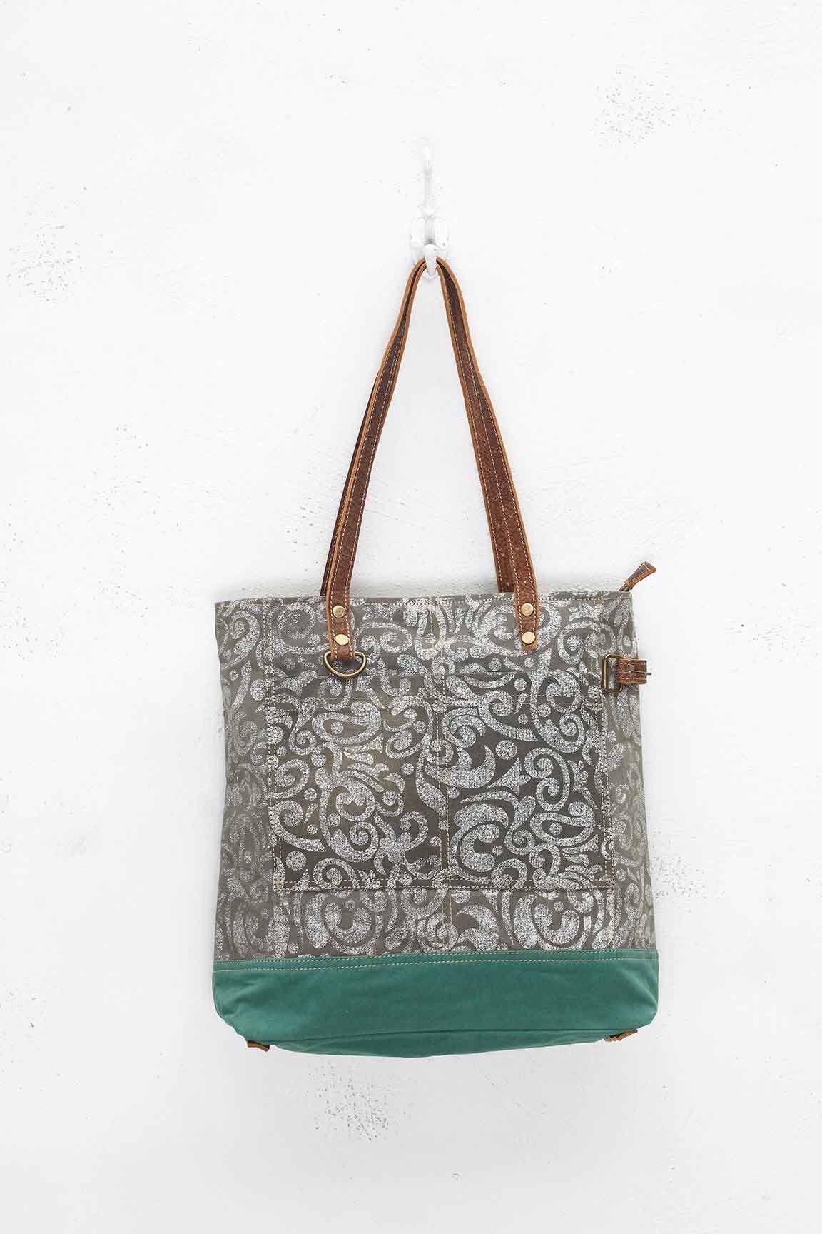 Myra Abstract Print Canvas Tote Bag Canvas tote bags