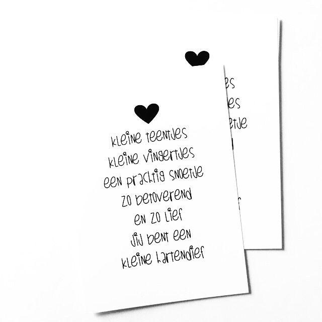 Kaartje geboorte gedichtje nl nederlandse teksten geboortekaartje pinterest babies - Kantoor voor een klein meisje ...