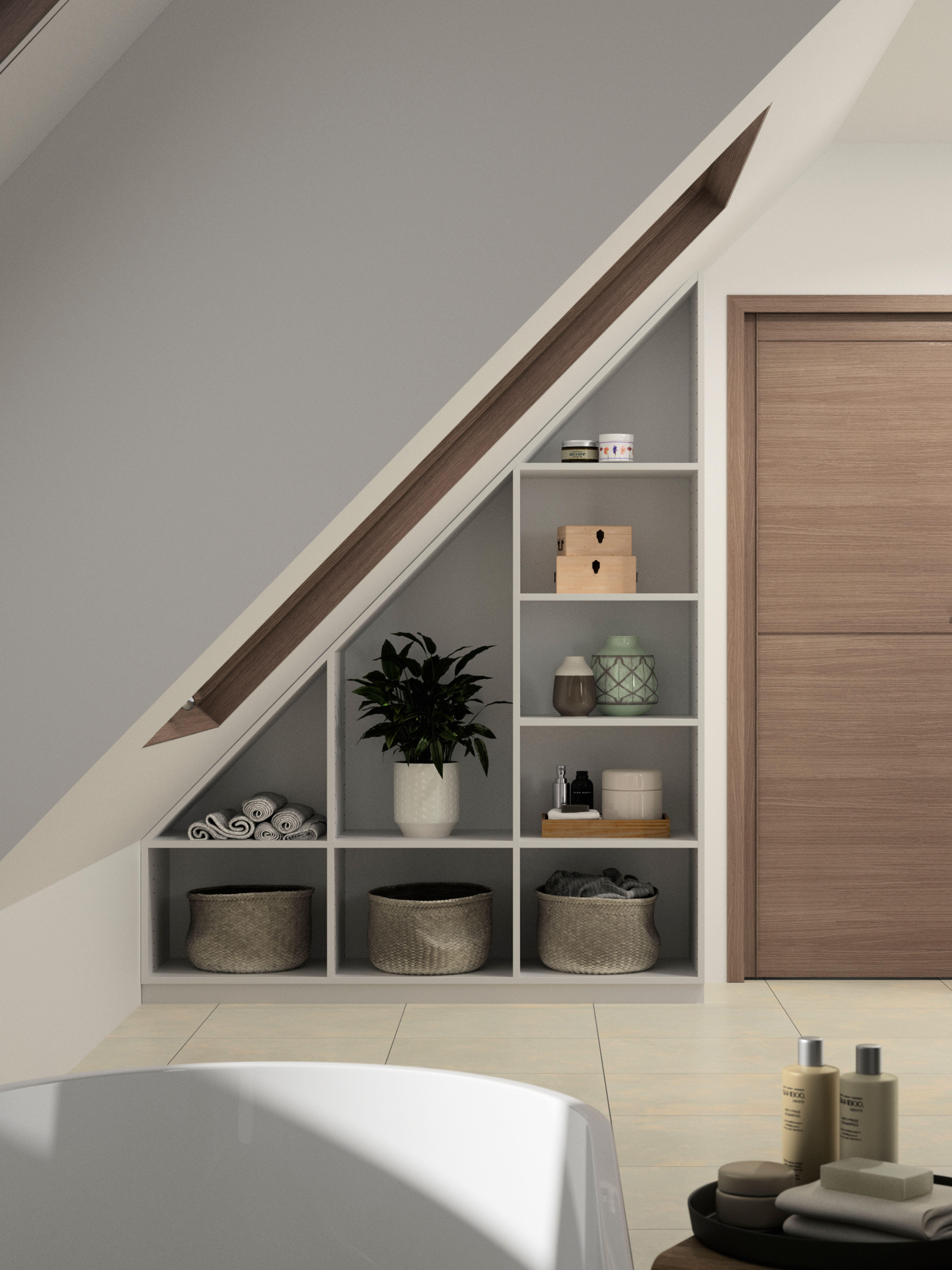 Clevere Lösungen für Badezimmer mit Dachschräge