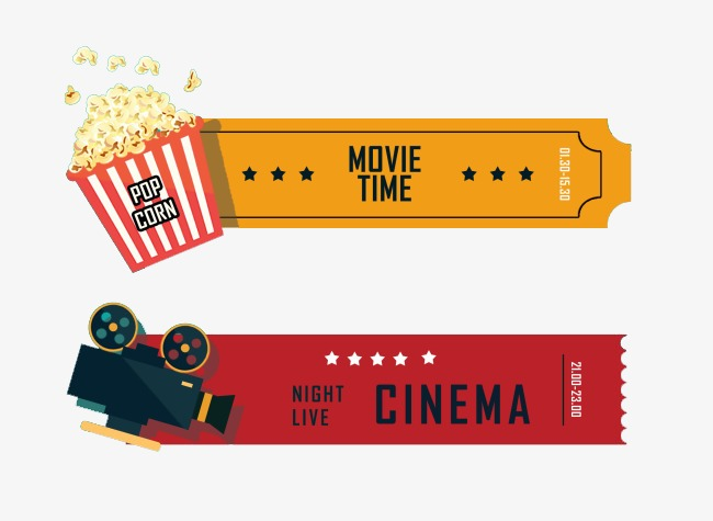 Vintage Camera De Filme Pipoca Movie Tickets Movies Clip Art