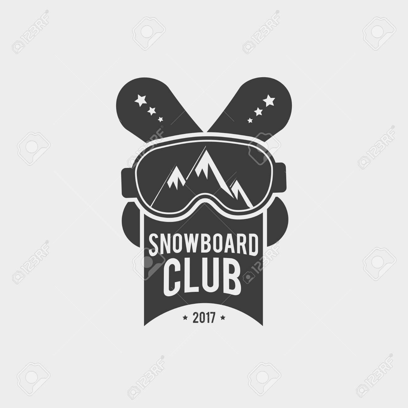 Snowboard Club Logo Vector Illustration Illustration Ad Logo Club Snowboard Illustration Illustration Hand Lettering Vector Logo Illustration