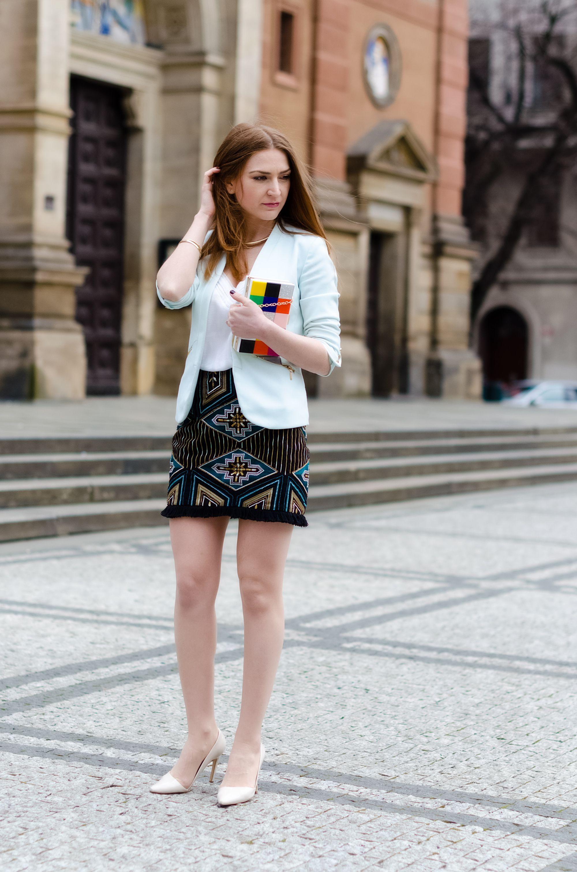 A skirt and a blazer