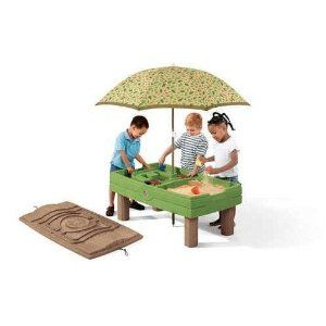 Step2 Naturally Playful Sand And Water Center With Umbrella And